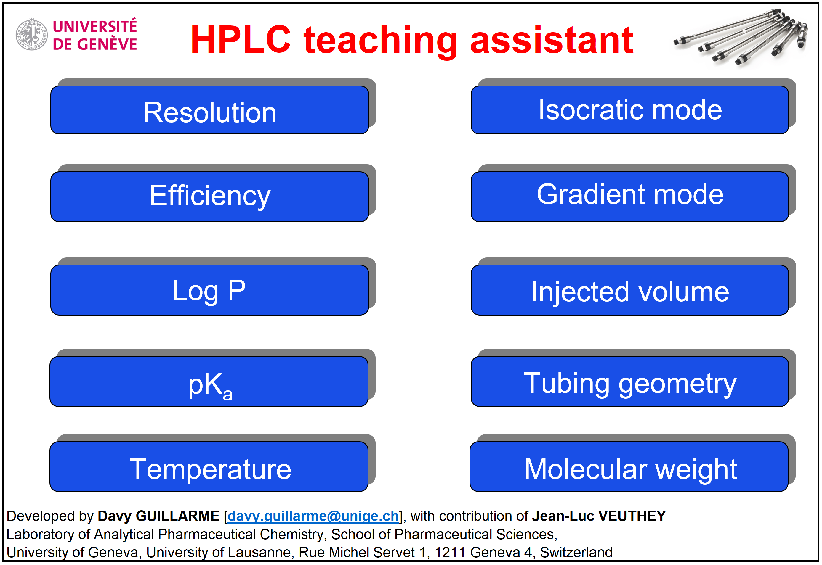 Analytical Sciences - HPLC Teaching Assistant